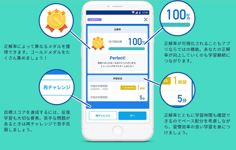 スタディサプリEnglish学習管理アプリ